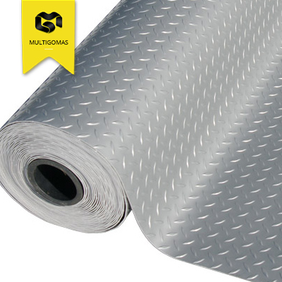 Piso PVC Diamantado Metalico